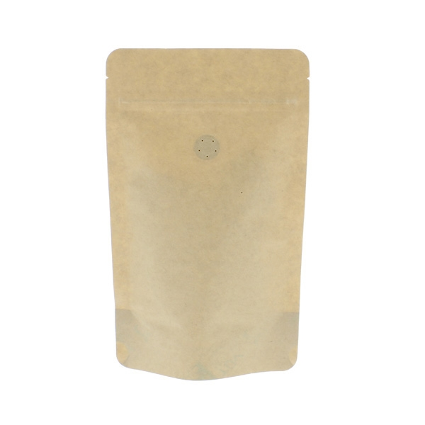 Coffee pouch brown Kraft paper / 100% compostable