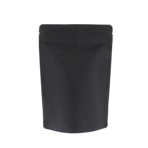 Coffee Pouch black Kraft paper Aluminium free