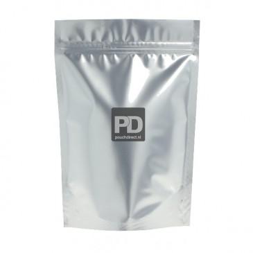 Stand Up Pouch matt silver-80x130+{25+25} mm (no zipper)